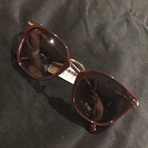 Never worn Bordeaux Burberry Sunglasses